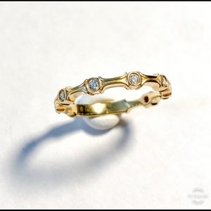 Jewelry - 14k Gold and Diamond Stacking Band
